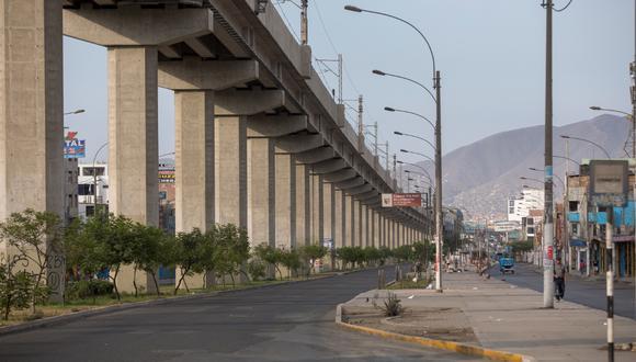 Así lucen algunas calles de San Juan de Lurigancho tras el tercer día de estado de emergencia. (Foto: Anthony Niño de Guzman/GEC)