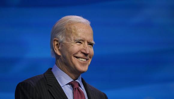El presidente electo Joe Biden habla durante un evento en el teatro The Queen en Wilmington, Delaware, el viernes 8 de enero de 2021, para anunciar puestos clave de la administración. (Foto AP / Susan Walsh)