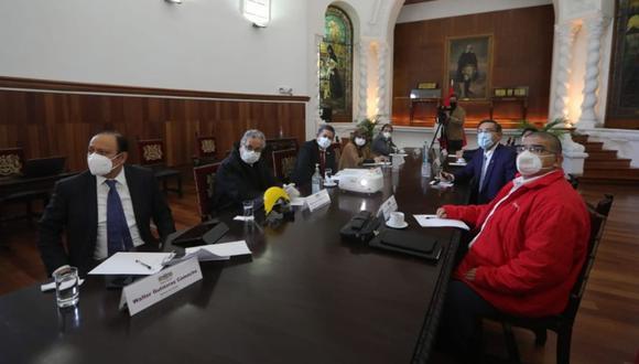 El 9 de julio se llevó a cabo el más reciente Consejo de Estado, en el que se reunieron Manuel Merino y Martín Vizcarra, entre otras autoridades. (Foto: Presidencia de la República)