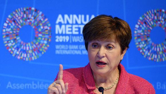 Kristalina Georgieva, directora general del FMI. (Foto: AFP)