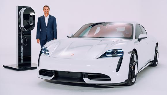 Gonzalo Flechelle sostuvo que esperan colocar al menos cinco unidades de su modelo Taycan eléctrico de alta gama este año. (Difusión)
