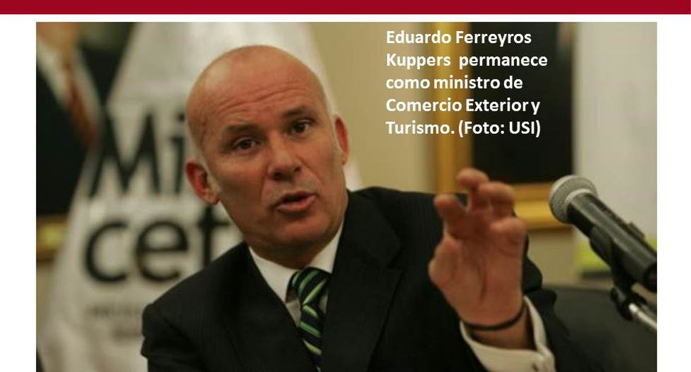 Foto 12 | Eduardo Ferreyros Kuppers permanece como ministro de Comercio Exterior y Turismo. (Foto: USI)