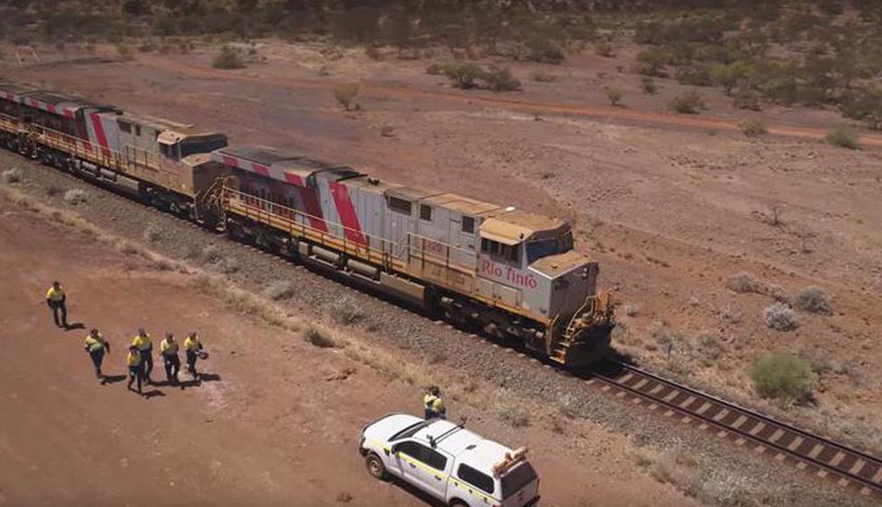 FOTO 1 | Tren autónomo de Rio Tinto Group en Australia. (Foto: Difusión)