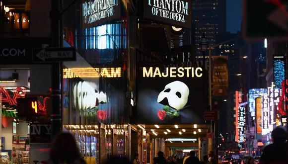 Como las demás instituciones culturales de Nueva York, el famoso distrito de teatros de la ciudad cerró sus puertas a mediados de marzo, cuando la Gran Manzana se convirtió en el epicentro nacional de la pandemia. (Foto: AFP)