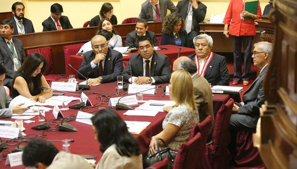 La Comisión de Justicia sesionó por unas dos horas con representantes del Poder Judicial y el Ministerio Público. (Foto: Congreso de la República)