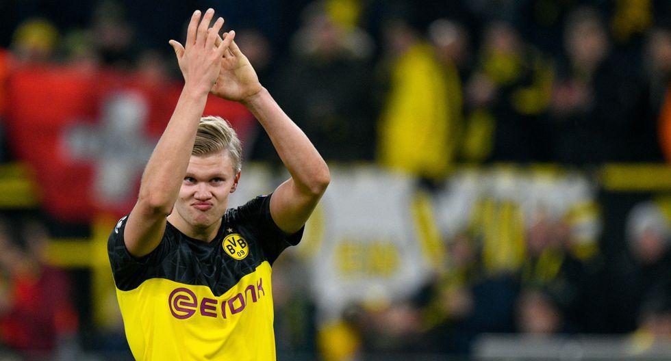 Erling Haaland marcó 10 goles en sus primeros 7 partidos de Champions League. (Foto: AFP)