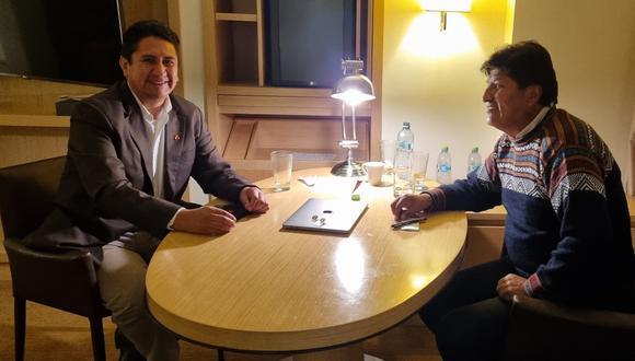 Vladimir Cerrón informó que Evo Morales volverá a participar en un evento de Perú Libre este sábado. (Foto: Twitter)