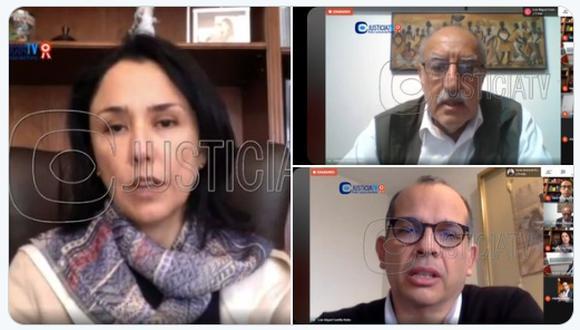 Poder Judicial evaluó prisión preventiva para Nadine Heredia y Luis Miguel Castilla en el caso Gasoducto. (Foto: Justicia TV)