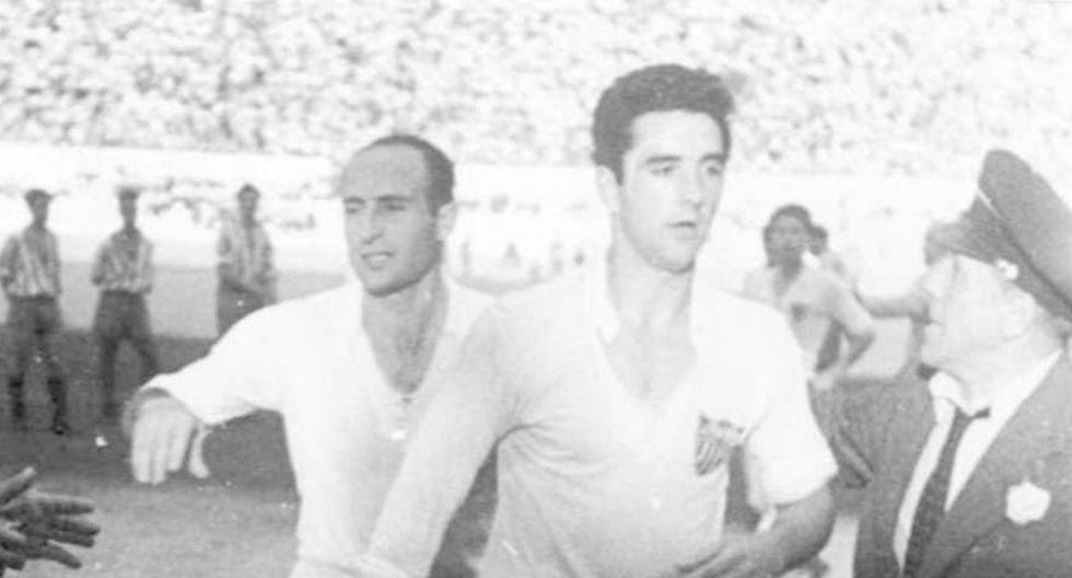 FOTO 8 | Juan Arza y Juan Araujo (33) Los delanteros sevillistas fueron los grandes artífices de una de las etapas más laureadas del club hispalense, cuando ganaron el título de Liga en 1945. Arza y Araujo fueron dos de los grandes delanteros de la época y marcaron gol en un mismo partido en 33 ocasiones.