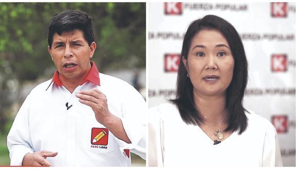 Pedro Castillo y Keiko Fujimori disputarán la segunda vuelta (Foto: GEC)