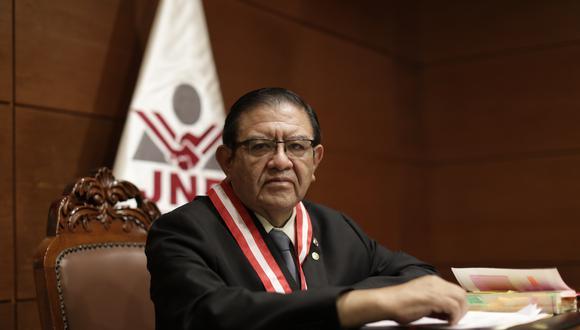 Jorge Luis Salas Arenas, presidente del JNE, también fue víctima de acusaciones sin fundamento según la misión de la UE. (Foto: Archivo/ GEC)