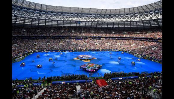 Las mejores postales de la ceremonia de clausura del Mundial Rusia 2018 en Moscú. (AFP)