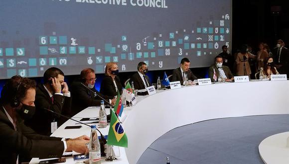 El 112 Consejo Ejecutivo de la OMT es la primera reunión presencial que celebra la organización desde el estallido de la pandemia y pretende lanzar un mensaje de confianza para recuperar el turismo, cuyas pérdidas multiplican por ocho las de la crisis de 2008.  (Foto: EFE/Esther Barranco)