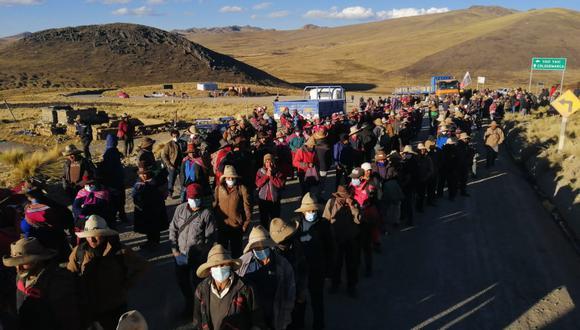 Las comunidades campesinas de Chumbivilcas esperan pronta solución a sus reclamos. (Derechos Humanos Sin Fronteras Cusco)