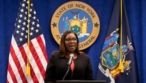 Fiscal general del estado de Nueva York, Letitia James.