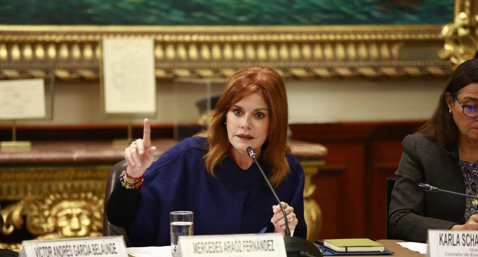 """Mercedes Araoz pidió terminar con la """"guerra política"""" entre el Ejecutivo y el Congreso. (Foto: Congreso)"""