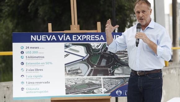 El alcalde de Lima, Jorge Muñoz, había reactivado el proyecto de la Vía Expresa Sur hace unas semanas(Fotos: César Campos)
