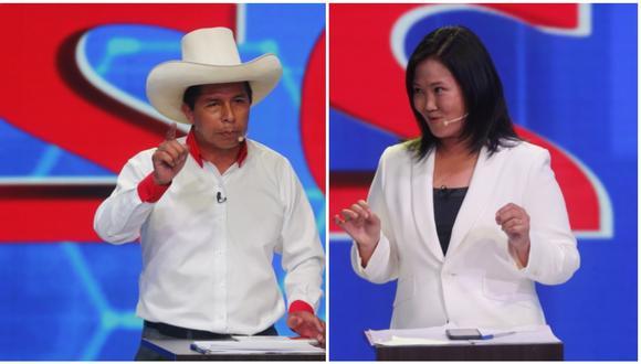 Pedro Castillo y Keiko Fujimori disputarían segunda vuelta, según conteo rápido de Ipsos al 100%. (Foto: GEC)