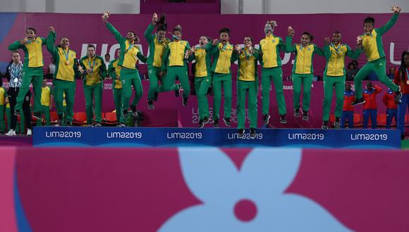 Brasil obtuvo una medalla de oro en balonmano femenino. (Foto: Miriam Jeske / Lima 2019 )