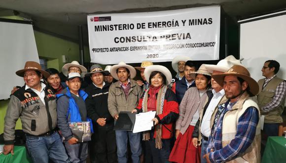 Ahora se iniciará una etapa informativa sobre las posibles afectaciones a los derechos colectivos de las comunidades. (Foto: Minem)