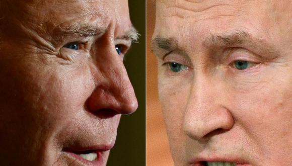 Las tensiones diplomáticas entre Moscú y Washington se dispararon a partir de que Biden asumió su cargo. (Fotos: JIM WATSON y Alexander NEMENOV / AFP).
