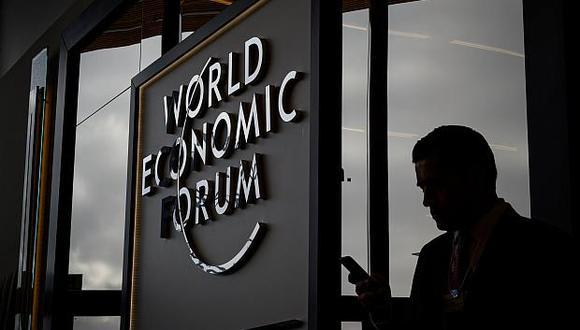 Foro Económico Mundial. (Foto: AFP)