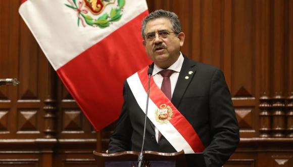 En su discurso, Manuel Merino ratificó que buscará un gabinete de consenso y unidad nacional, sin distinción de colores políticos. (Foto: Congreso)