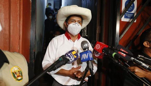 """Pedro Castillo afirmó que """"para nada"""" cambiará su plan de Gobierno (Foto: Mario Zapata Nieto / @photo.ge)"""