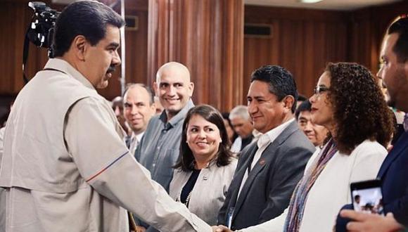 Vladimir Cerrón es captado junto a Nicolás Maduro en una actividad en Venezuela. (Twitter: Nicolás Maduro)