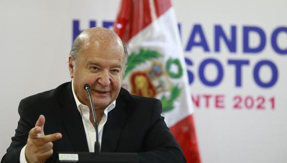 Hernando de Soto afirmó que el Perú no logrará inversiones si se anulan los compromisos internacionales firmados. (Foto: GEC)