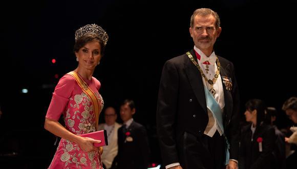 El rey Felipe de España y su esposa, la reina Letizia. (AFP).