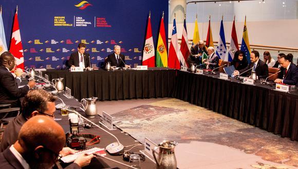 Imagen de archivo de una reunión ministerial del Grupo de Lima. EFE/ Julio César Rivas/Archivo