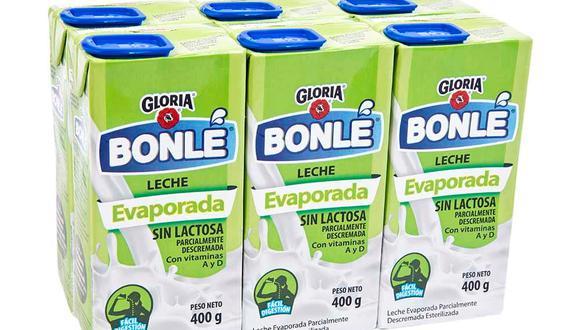 """Gloria recibió una sanción por no consignar en el etiquetado ni en el envase del producto """"Bonlé Lecha Evaporada Deslactosada"""" una denominación de acuerdo a su naturaleza. (Foto: Internet)"""