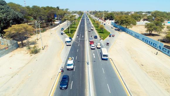 La modernización de la vía, que es la más importante de la ciudad de Piura, requirió una inversión de S/ 94 millones. (Foto: Difusión)