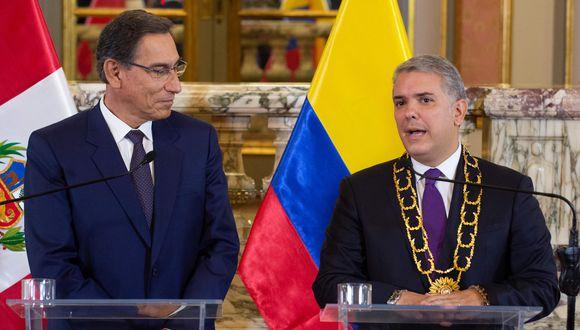 Presidentes de Colombia y Perú