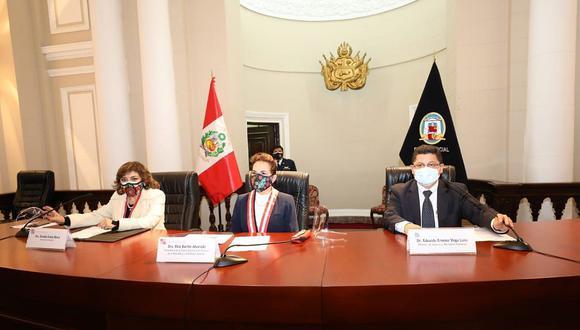 El ministro Eduardo Vega anunció que los fondos servirán para potenciar la lucha contra la corrupción (Foto: Ministerio de Justicia).