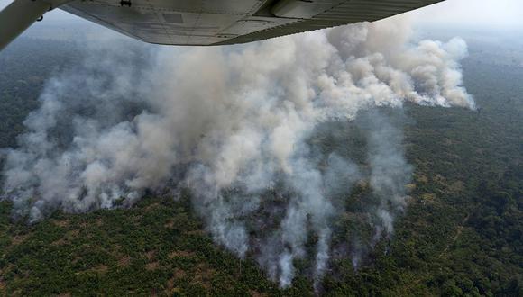 El fuego no se detiene en la Amazonía brasileña. (Foto: AFP)