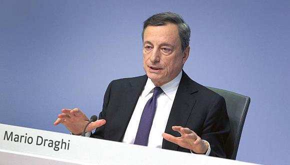 """El titular del Banco Central Europeo (BCE), Mario Draghi, dijo que las expectativas del mercado están """"muy bien alineadas"""" con las de la entidad. (Foto: AFP)"""