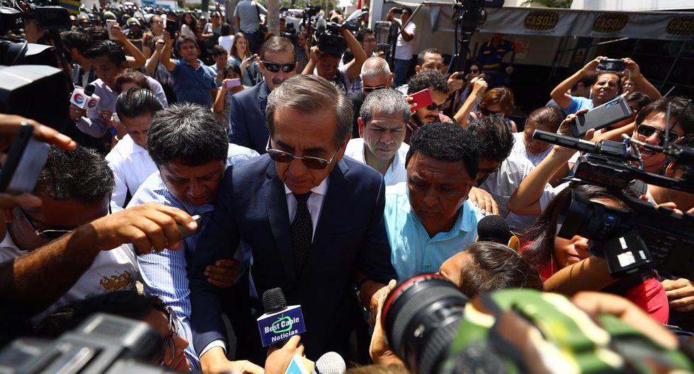 El congresista Jorge del Castillo indicó que la familia de Alan García solicitó que el velatorio sea un tema partidario. (Foto: Daniel Apuy / GEC)