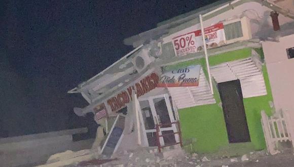 Una tienda derrumbada después de un terremoto de este 7 de enero de 2020. (Foto: Reuters)