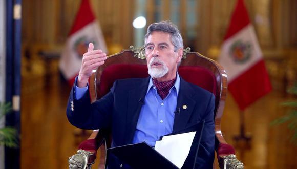 Francisco Sagasti señaló que su gobierno continuará con las iniciativas que han dado resultados. (Foto: Presidencia)