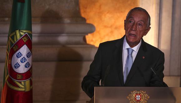 El presidente de Portugal, Marcelo Rebelo de Sousa, pronuncia un discurso en Lisboa, el 26 de octubre de 2019. (CARLOS COSTA / AFP).