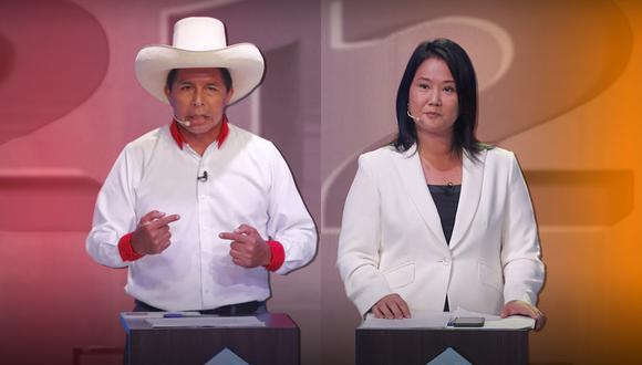 Pedro Castillo y Keiko Fujimori disputarán la segunda vuelta de las Elecciones Generales 2021. (Composición: GEC)