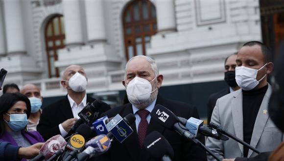 """Montoya dijo esperar que el Ejecutivo """"sincere"""" el rol que cumple el sentenciado secretario general de Perú Libre, Vladimir Cerrón, en el Gobierno.(Foto: GEC)"""