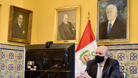 """López indicó que el Ejecutivo se encuentra enfocado en """"llevar a cabo unas elecciones generales transparentes, democráticas y participativas"""" y con los debidos cuidados del caso debido a la pandemia del COVID-19. (Foto: Cancillería)"""