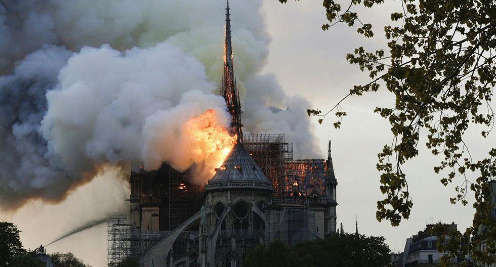 Incendio de Notre Dame.