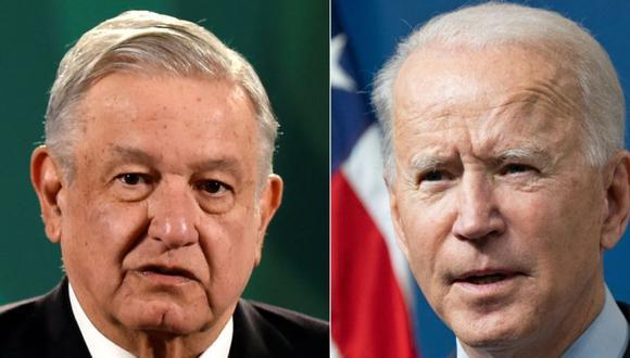 El presidente de México, Andrés Manuel López Obrador, y el presidente de Estados Unidos, Joe Biden. (Foto: AFP / ALFREDO ESTRELLA AND SAUL LOEB).