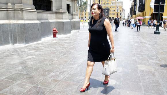 Mirian Morales es investigada en el caso Richard Swing. Debido a la investigación, renunció a su cargo de secretaria general de Palacio. (Foto: Alonso Chero)