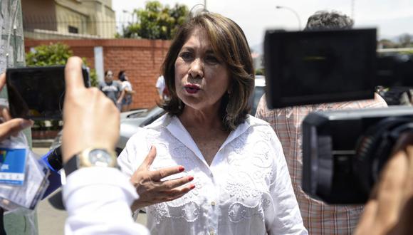 """Martha Chávez consideró la diligencia solicitada por el fiscal José Domingo Pérez como un elemento """"distractor"""". (Foto: GEC)"""