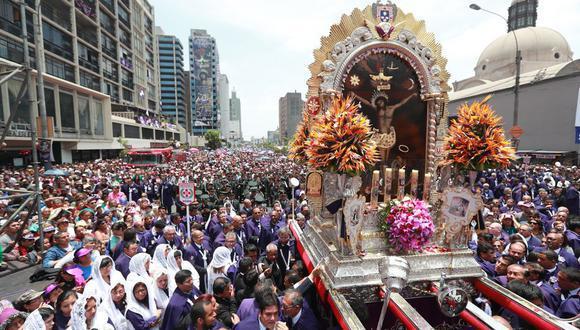 En el mes de octubre se realizaba la tradicional procesión del Señor de los Milagros, pero por segundo año no se desarrollará debido al COVID-19. (Foto: GEC)